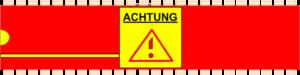 Grafik: Achtung-Symbol in IC-Form