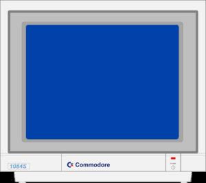 Bild: Monitor mit blauen Hintergrundbild