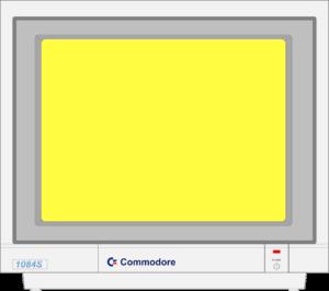 Bild: Monitor mit gelben Hintergrundbild