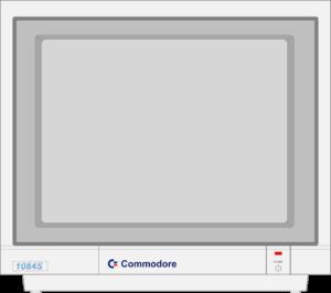 Bild: Monitor mit hellgrauen Hintergrundbild