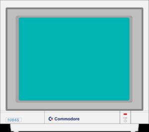 Bild: Monitor mit türkisen Hintergrundbild