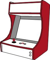 Grafik: Arcadeautomattyp Bartop (Thekengerät)