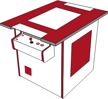 Grafik: Arcadeautomattyp Cocktail (Tischgerät)