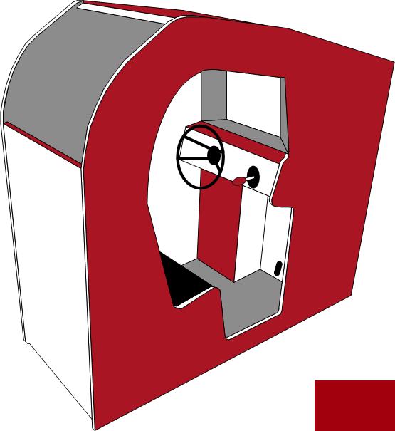 Grafik: Arcadeautomattyp Sit-In (Gerät zum hineinsetzen)