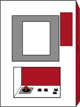 Grafik: Arcadeautomattyp Wall Mounter (Wandgerät)