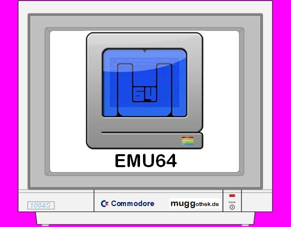 Monitorbild: EMU64 MIT LOGO