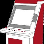Grafik: Arcadeautomattyp Sit-Down (Gerät zum davorsetzen)