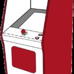 Grafik: Arcadeautomattyp Upright Cabinet (Standardgehäuse)