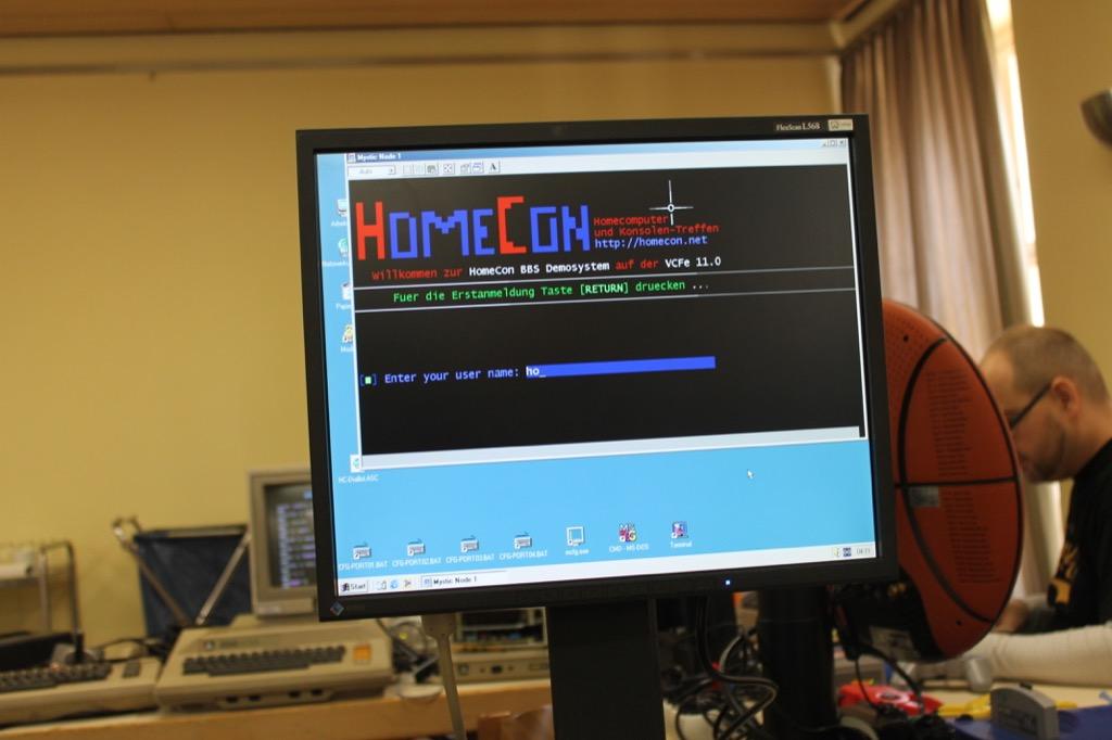 Bild: BBS Demosystem für die VCFe 11.0 (RetroQuatsch - BBS & Mailboxen)