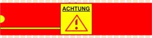 Grafik: Achtung-Symbol in IC-Form
