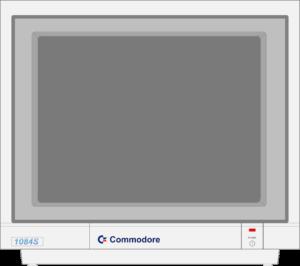 Bild: Monitor mit dunkelgrauen Hintergrundbild
