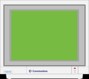 Bild: Monitor mit grünen Hintergrundbild