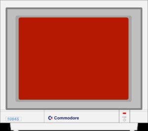 Bild: Monitor mit roten Hintergrundbild