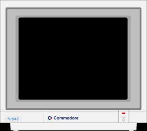 Bild: Monitor mit schwarzen Hintergrundbild bzw. keine Bildanzeige