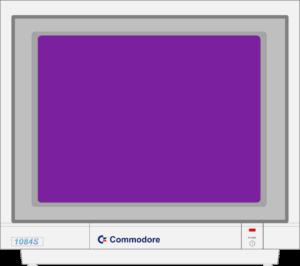 Bild: Monitor mit lilalen Hintergrundbild