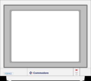 Bild: Monitor mit weißen Hintergrundbild