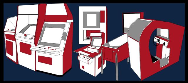 Grafik: Arcadeautomattyp Übersichtsbild (kleine Version)