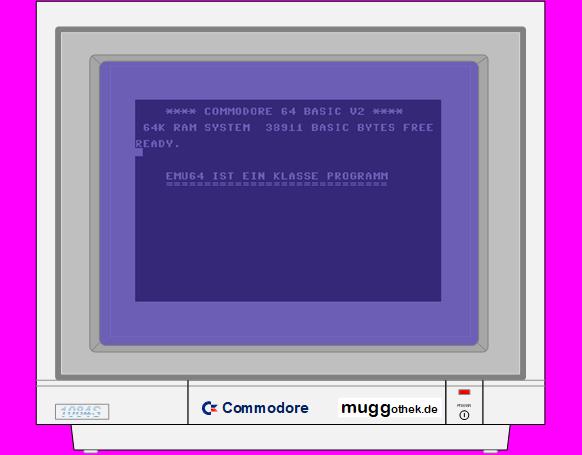 Monitorbild: EMU64 - C64 Bild