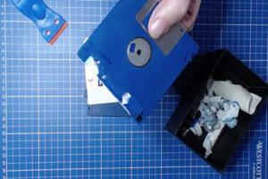 Bild: Diskettenetiketten entfernen