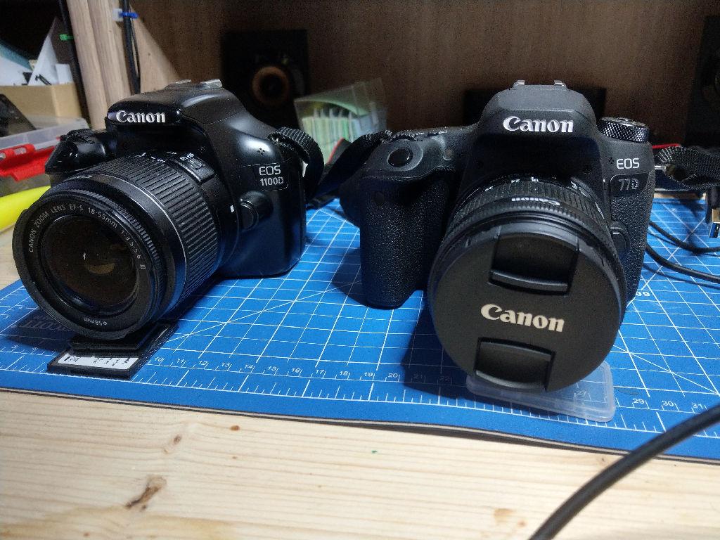 Bild: Kamera Canon EOS 1100D und EOS 77D (mit HTC11U fotografiert)