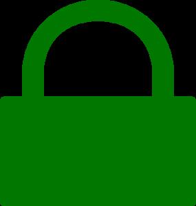 Bild: grünes Hängeschloss / Symbol Verschlüsselt